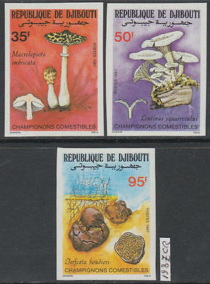 XG-AL331 DJIBOUTI - Mushrooms, 1987 Nature, 4 Values Imperf. MNH Set