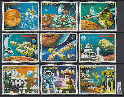 XG-AL988 PARAGUAY - Space, 1978 Fantasy, 9 Values MNH Set