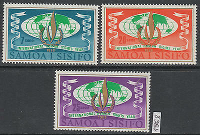 XG-AL565 SAMOA I SISIFO - Human Rights, 1968 Intl. Year, 3 Values MNH Set