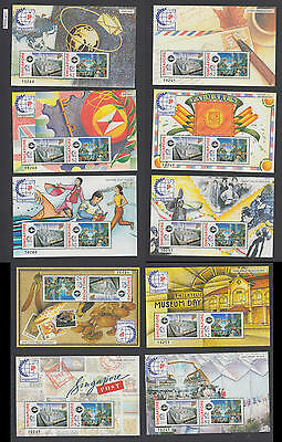 XG-AL917 SINGAPORE IND - Stamp On Stamp, 1995 World Exhibition, 10 Sheets MNH