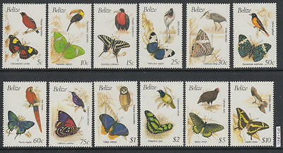 XG-AL442 BELIZE - Butterflies, 1990 Birds, Nature, Fauna MNH Set