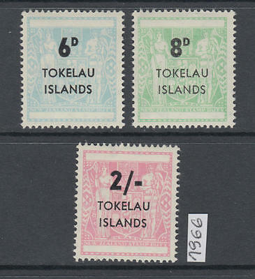 XG-AL863 TOKELAU ISLANDS - Set, 1966 3 Values Overprinted MNH