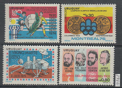XG-AL550 URUGUAY - Space, 1976 Olympic Games, Football MNH Set