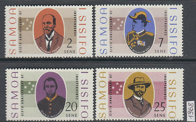 XG-AL595 SAMOA I SISIFO - Uniforms, 1968 Independence, 4 Values MNH Set
