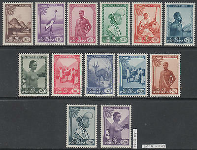 XG-AL447 GUINEA PTC - Birds, 1948 Wild Animals, Costumes, Local Views MNH Set
