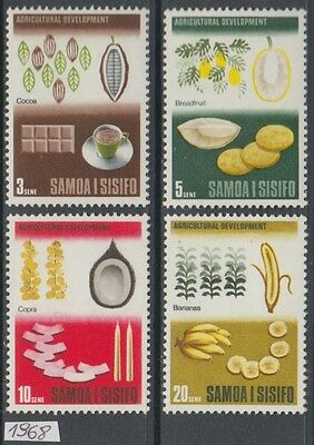 XG-AL596 SAMOA I SISIFO - Fruits, 1968 Agricultural Development MNH Set