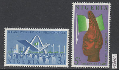 XG-AL672 NIGERIA IND - Independence, 1962 2Nd Anniversary MNH Set