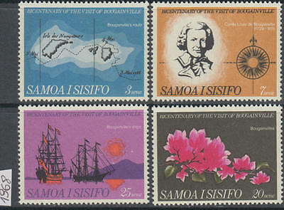 XG-AL597 SAMOA I SISIFO - Ships, 1968 Maps, Flowers, 4 Values MNH Set