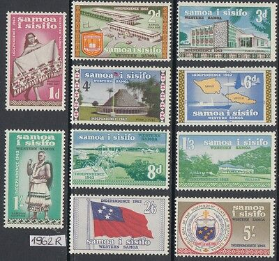XG-AL583 SAMOA I SISIFO - Definitives, 1962 Flags, Maps, Landscapes MNH Set