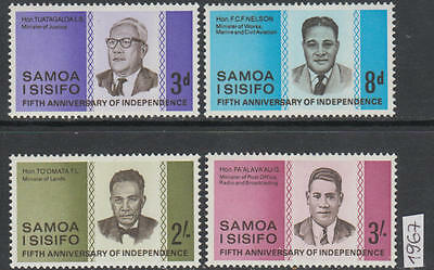 XG-AL589 SAMOA I SISIFO - Independence, 1967 5Th Anniversary MNH Set