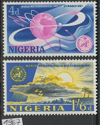 XG-AL007 NIGERIA IND - Meteorology, 1967 World Meteorological Day MNH Set