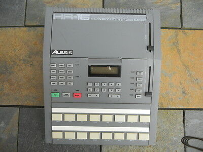 Vintage 1988 Alesis HR-16 Drum Machine, Used, Includes AC Adapter