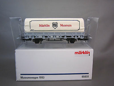 Marklin 1 Gauge 85830 1993 Museum Low Side Gondola With Canvas #513 108
