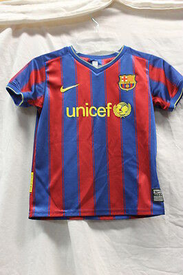 NIKE UNICEF Jersey Youth 4/5 FAIR Used Condition Red Blue Shirt Kids Boys Girls