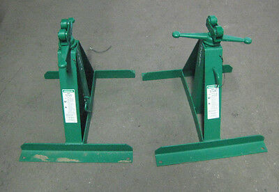 Set Of 2 New Greenlee 683 Pipe Stands Cable Wire Tugger Puller Free Shipping