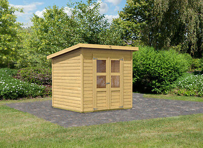 gartenhaus flachdach holz 28mm blockhaus ger tehaus holzhaus 3x2 4m mit fu boden eur 785 00. Black Bedroom Furniture Sets. Home Design Ideas