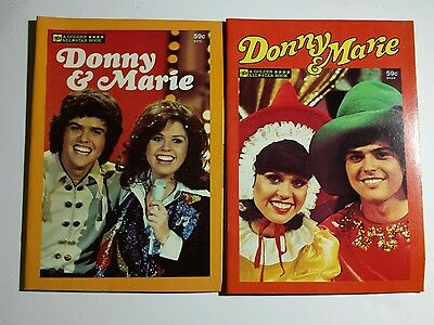Lot of 2 Donnie & Marie Vintage Golden All Star Books Comic Illustrated 1977