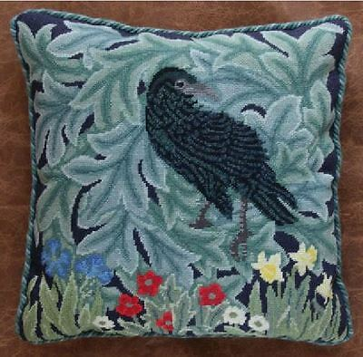 Ehrman Designer Beth Russell Tapestry Needlepoint Chart Pattern RAVEN CUSHION