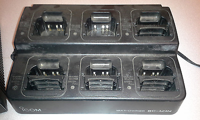 iCOM BC-121N 6 Bay Charger Includes 4 AD-94 Adapters & BC-124 Power Supply