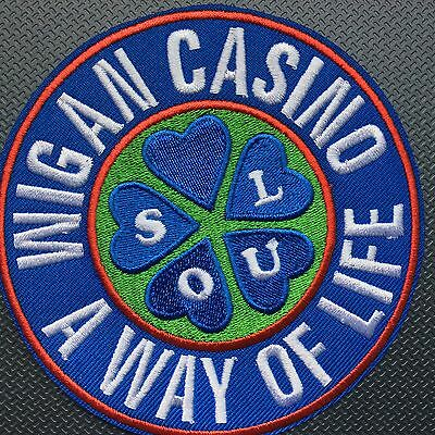 Quality embroidered Northern Soul  patch. Wigan Casino