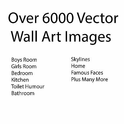 Over 6000 Vector eps AI clip art Images DVD for Vinyl Sticker Wall Art Business