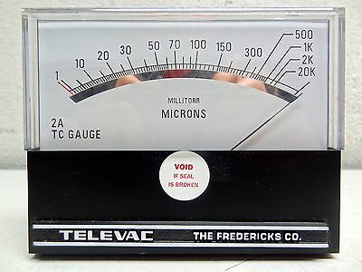 Televac The Fredericks Co. D-1323919245 2A Tc Gauge Millitorr Microns **new**