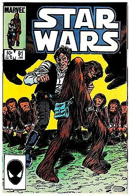 STAR WARS #91 (NM-) Chewbacca & Han Solo Cover Story Appearance! 1985 Marvel
