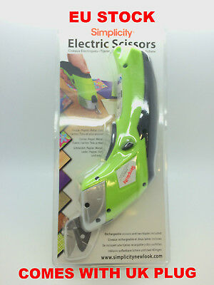 Electric Scissor cordless with 2 blades Simplicity electric Scissors RRP £59.99