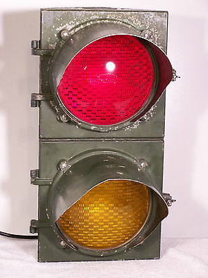 Vintage Econolite E-951 Partial Traffic Signal Great Patina-WORKS