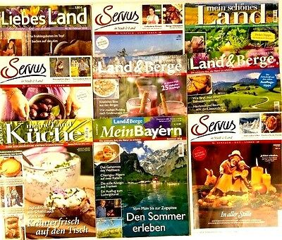 Lot of 9 German Language Magazines 2012-2014 issues