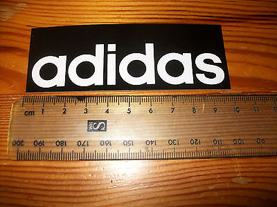 Adidas sticker / decal black and white 100mm / 30mm Adiddas