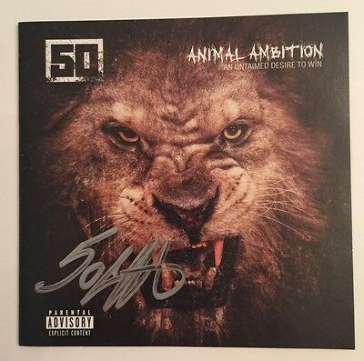 50 CENT Hand Signed Autograph Animal Ambition CD
