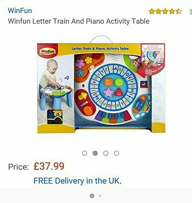 Winfun Letter Train and Piano Activity Table x