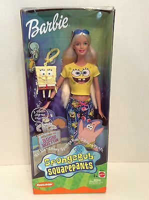 2002 Barbie Sponge Bob Square Pants Special Edition Nickelodeon/Mattel Ages 3+