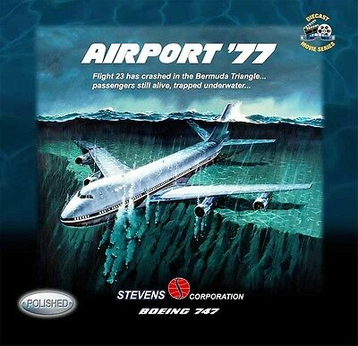 Inflight 200 If7471977P Airport 77 Stevens Corporation 747 N23S Polished W/stand