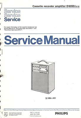 Philips Original Service Manual für D 6550