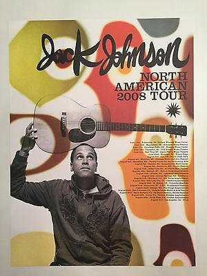 "Jack Johnson 2008 North American Tour Poster 18"" x 24"""