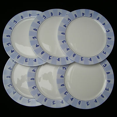 6 GRANDES ASSIETTES 31,5 cm ARCOPAL DISNEY MICKEY VINTAGE FRENCH DINNER PLATES