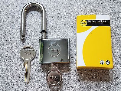 Yale Marine Padlock - weather resistent - brass / stainless 40mm - long shackle