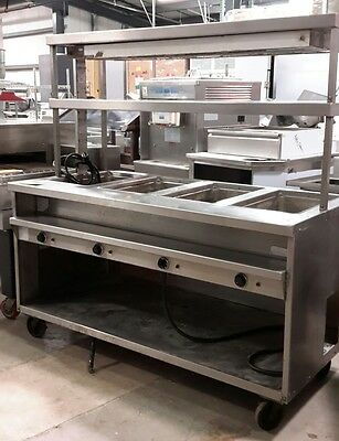 Used Randell 3614-240 Electric Hot Food Serving Counter with Overshelf