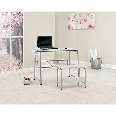 Craft Center Table Desk Hobby Art Student Computer Home Furniture Drafting Stool