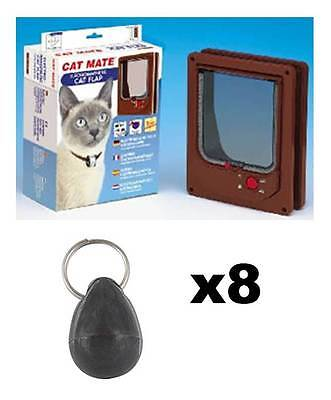 Pet Mate 254b Cat Mate Electromagnétique Animal Chat Porte 4 Voies Fermeture
