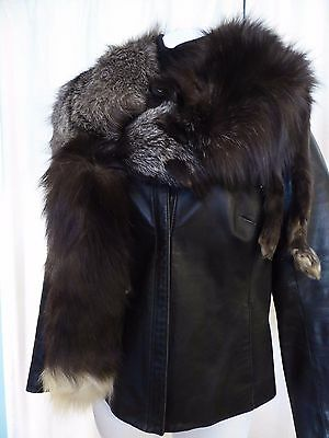 VTG silver tipped brown fox real fur stole