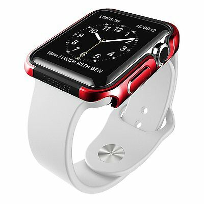 X-Doria 38mm Apple Watch Case Defense Edge Premium Aluminum and TPU Bumper Frame