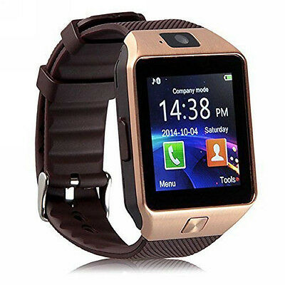DZ09 Smart Watch Bluetooth GSM with SIM Card Slot For Android Phone gold