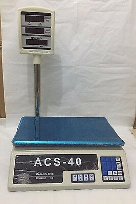 40KG Electronic Weight Scale Vegetable Fruit Market Retail Shop Grocery Kitchen