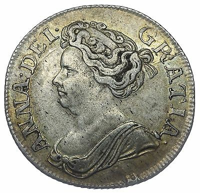 1711 Shilling - Anne British Silver Coin - V Nice