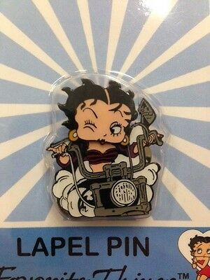 "Bobble Head Betty Boop ""Winking w/Handle Bars"" Favorite Things Lapel Pin New"