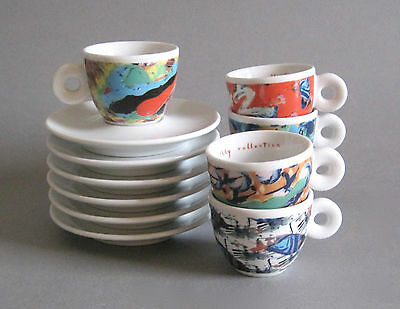 6x Illy Collection Espressotasse 1996 Videogrammi Nam June Paik Espresso Cup