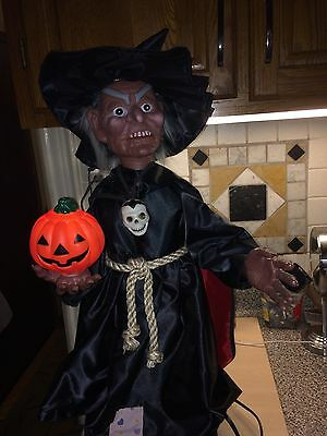Halloween Motionette Animated 2 Ft Electric Witch Very Rare